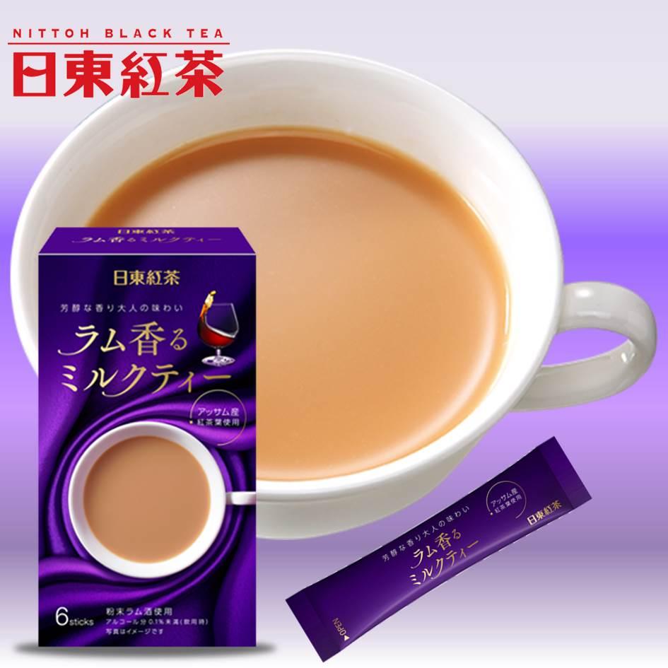 【日東紅茶】蘭姆酒風味阿薩姆奶茶 即溶沖泡粉 6入 72g ??香??????? 日本進口
