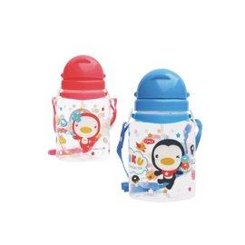 PUKU藍色企鵝 - 滑蓋水壺 800cc (水藍/粉紅) 0