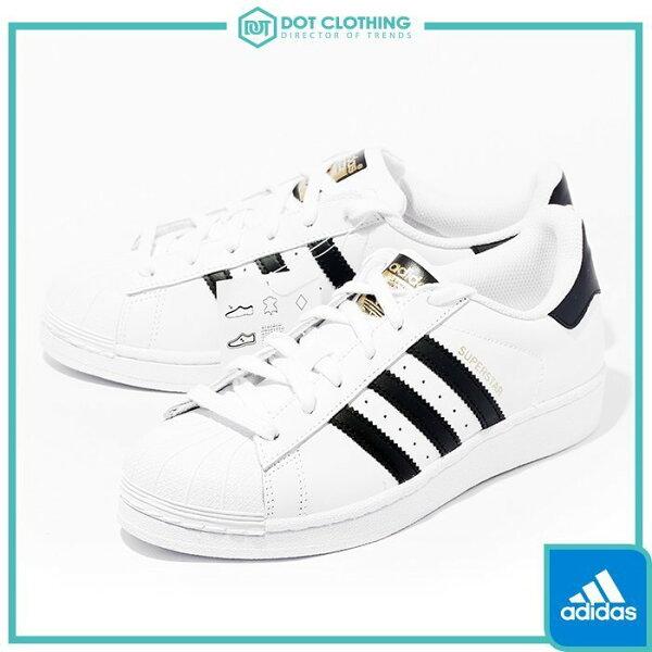 DOT聚點 Adidas Originals Superstar 余文樂 白黑 金標 經典款 C77124 金標 女鞋
