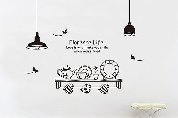 BO雜貨【YV2650】可移動 時尚組合壁貼 牆貼 壁貼紙 創意璧貼 燈飾