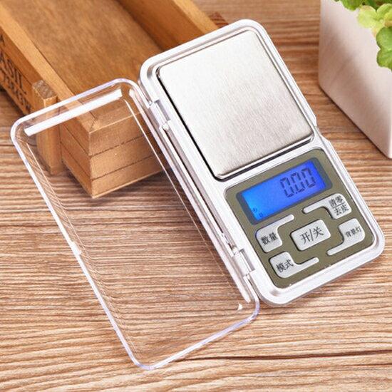 便攜迷你口袋電子秤 精準 廚房 家用 實驗 精度 磅秤  輕巧 重量 ♚MY COLOR♚【X24-2】