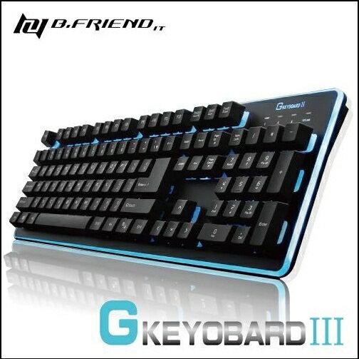 鍵盤GKEYBOARDⅢ七色LED發光遊戲鍵盤黑色GK3有線鍵盤遊戲鍵盤電腦周邊