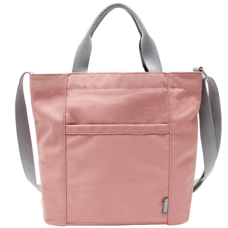 手提包帆布側背包-簡約純色百搭休閒女包包7色73xb8【獨家進口】【米蘭精品】