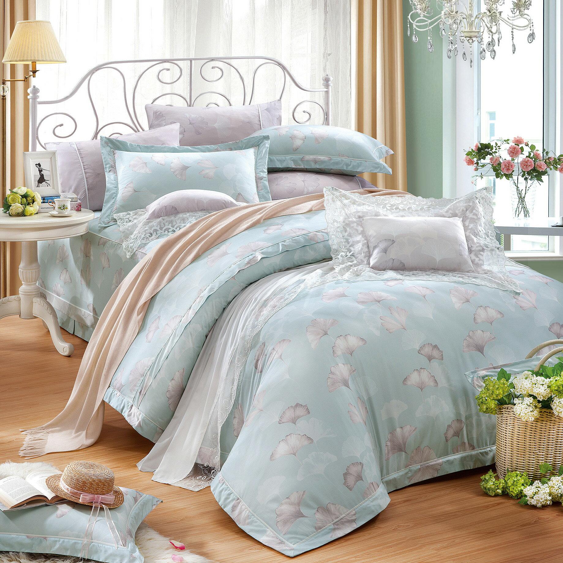 七件式床罩組 雙人/加大/特加大 A1823銀杏並木*60支*精梳美國棉*奧斯汀台灣製造