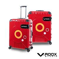 送家人聖誕交換禮物推薦聖誕禮物行李箱/袋到V-ROOX ZERO by A.L.I 21吋 時尚潮版撞色太空艙行李箱 硬殼鋁框旅行箱-紅就在潘堤翁精品旅行箱推薦送家人聖誕交換禮物