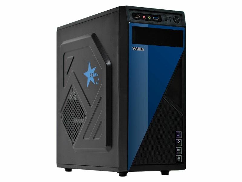【迪特軍3C】YAMA 雅瑪 星光 三大 電腦機殼 面板藍色亮面設計 內部紅化 前置USB3.0