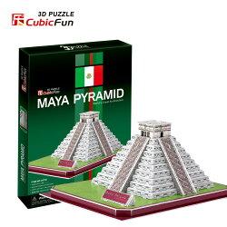 3D Puzzle 立體拼圖 - 世界建築精裝版 【墨西哥瑪雅金字塔】C073h 青少年級 48片 (7天到貨)