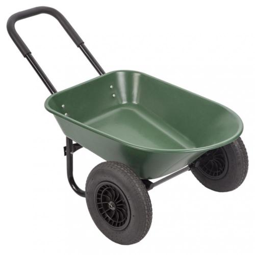 New Flat Free Yard Rover Wheelbarrow, 2 Tire Wheelbarrow Garden Cart 0