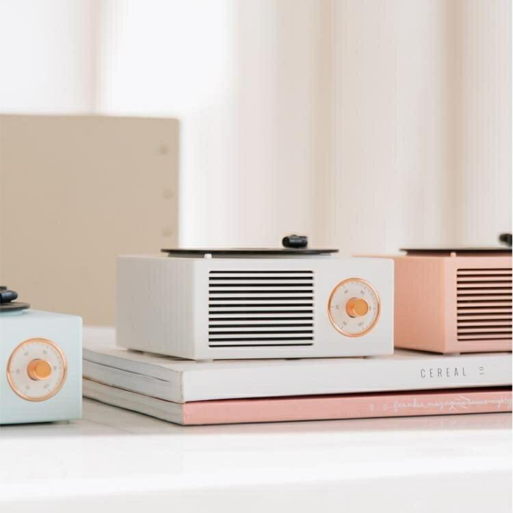 復古黑膠唱機音響桌面無線創意多功能迷你小音箱原廠   時尚學院
