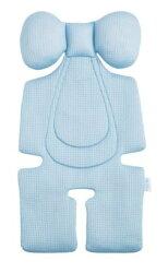 【紫貝殼】air cossi 超透氣抗菌天絲坐墊_嬰兒推車枕頭 (寶寶頭頸支撐款4m-3y)【首創頂級天絲 50%up吸濕排汗 】