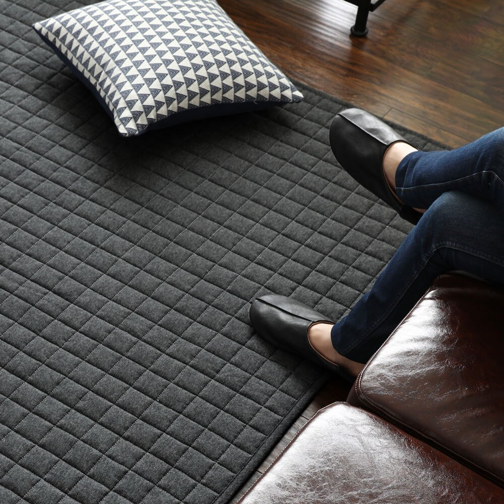 Denim Rug。方格牛仔地毯/地墊-100x140-3色/ 日本MODERN DECO