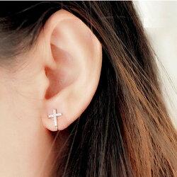【極簡時尚】925純銀 ★ 十字架耳夾丨鋯石耳夾丨純銀首飾 丨個性銀飾丨夾式耳環丨現貨+預購 ❤ 超取免運 ❤