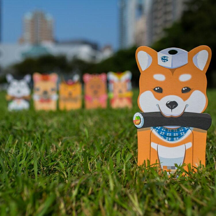 L號壽司柴犬/備用接便器紙卡一張/便孔大、不漏接、易裝拆、免手拿/適合大型狗