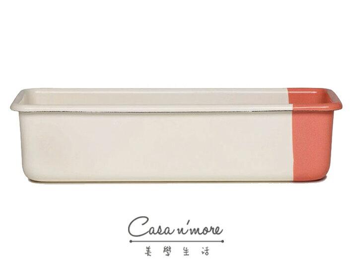 Riess 吐司烤盤 琺瑯烤盤 長型烤盤 30x10cm 香草蜜桃色 0