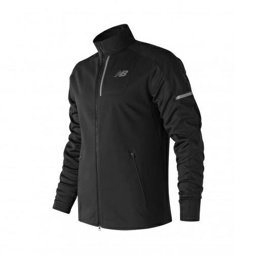 New Balance 男装 外套 慢跑 保暖 防风 防泼水 反光贴条 舒适 黑【运动世界】MJ73218BK