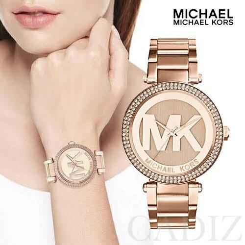 預購 美國正品 Michael Kors 玫瑰金經典LOGO手錶 Parker Watch MK5865