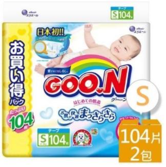 【GOO.N】大王 阿福狗S號:104枚x2包/箱