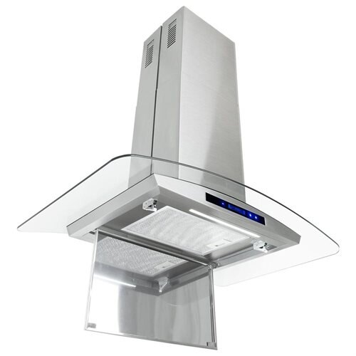 "AKDY 36"" GV9005P-36 Europe Style Stainless Steel Island Range Hood Unique Flat Design 2"