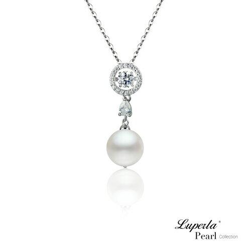 大東山珠寶 星眸 日本AKOYA天然海水珍珠純銀晶鑽項鍊 0