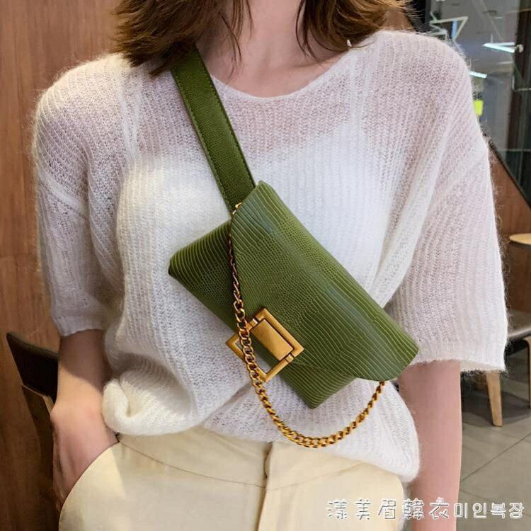 小香風皮質腰包女士2020新款潮ins小巧韓版時尚斜挎胸包