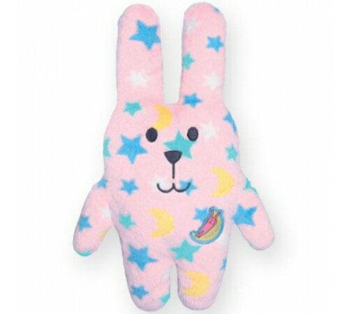 日本CRAFTHOLIC 宇宙人 - 愛你傳情熊寶貝枕 - 粉紅星星兔 - 限時優惠好康折扣