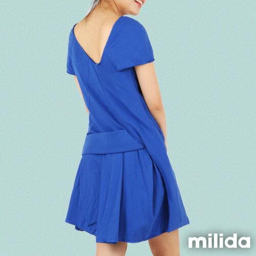 【Milida,全店七折免運】-夏季尾聲-素色款-厚棉立體造型設計 1