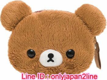 【真愛日本】116103100014拉鍊零錢包-大頭森林蜂蜜熊   SAN-X 懶熊 拉拉熊 零錢包 收納包 小包包