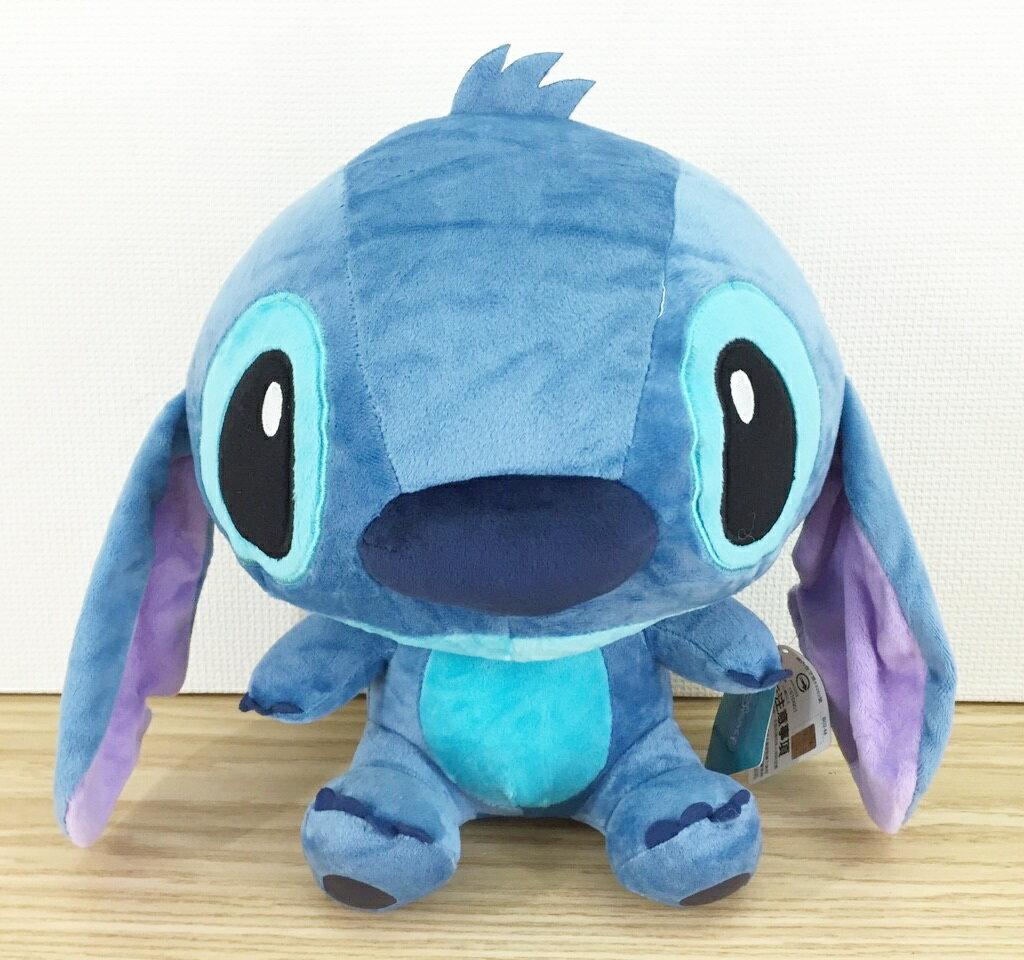 【真愛日本】1601160000412吋大眼坐娃-寶藍   史迪奇 星際寶貝 娃娃 抱枕 靠枕 公仔 絨毛娃娃