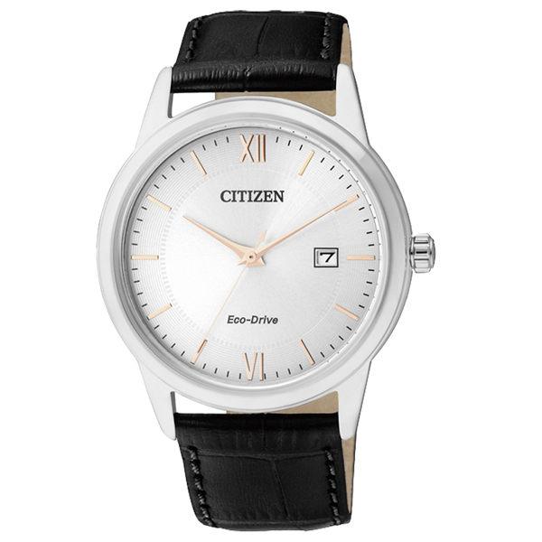 CITIZEN星辰AW1236-11A簡約光動能男錶/白面40mm