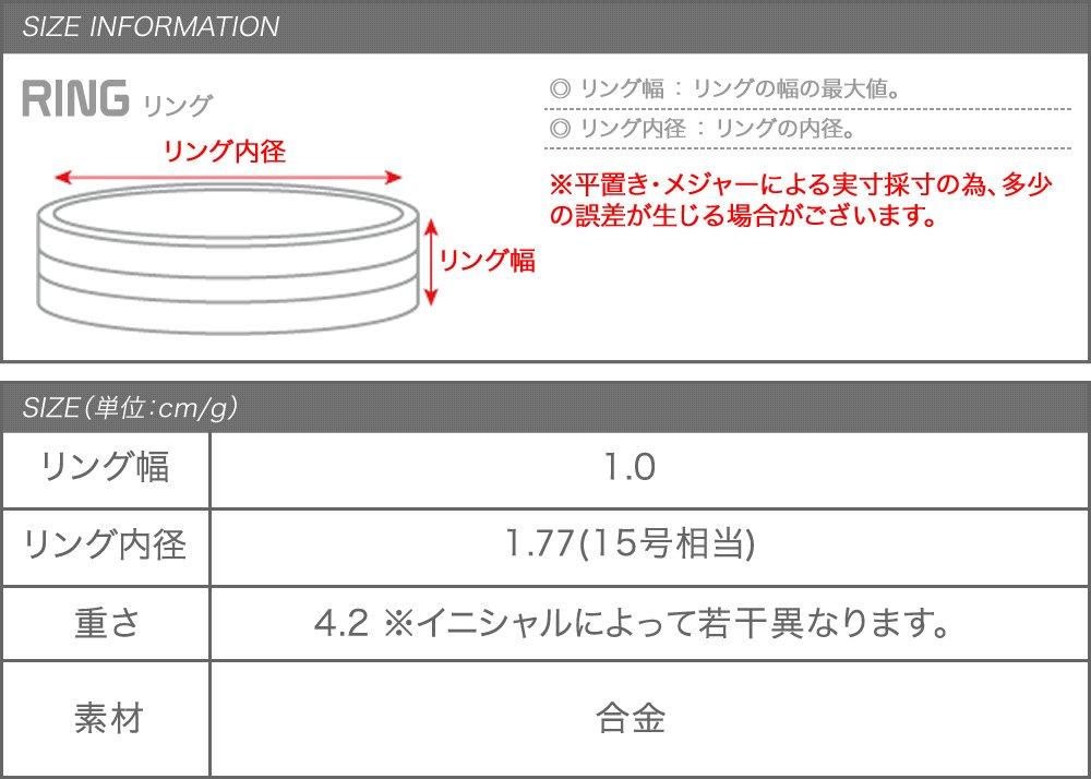 日本CREAM DOT  /  リング 指輪 レディース 15号 ワイドリング ファッションリング イニシャル ヘアライン加工 大人カジュアル シンプル 可愛い ゴールド シルバー  /  a03578  /  日本必買 日本樂天直送(1290) 9