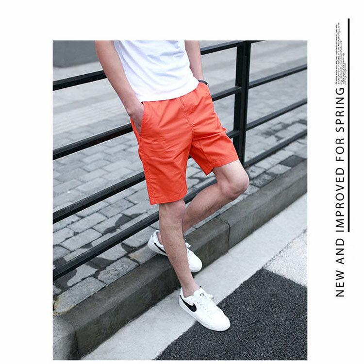 【專區任選2件$580】 最新款日系新品潮流經典純色休閒短褲 7