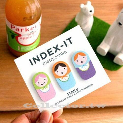 韓國創意文具-俄羅斯可愛娃娃便利貼 N次貼 隨手貼 Memo貼