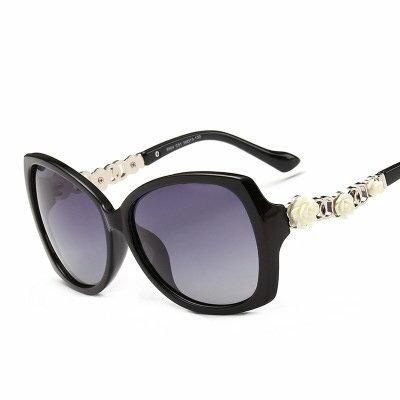 墨鏡花朵金屬拼接造型時尚大框太陽眼鏡【KS9504】BOBI0315
