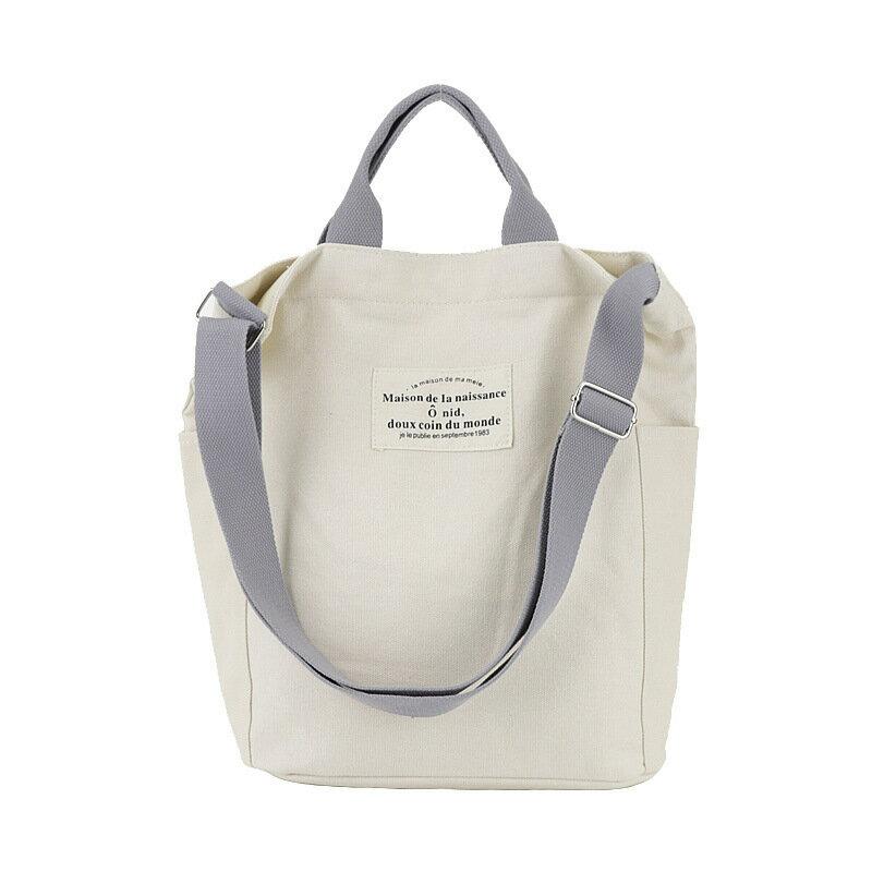 手提包帆布側背包-百搭大容量休閒學院風女包包5色73wo42【獨家進口】【米蘭精品】