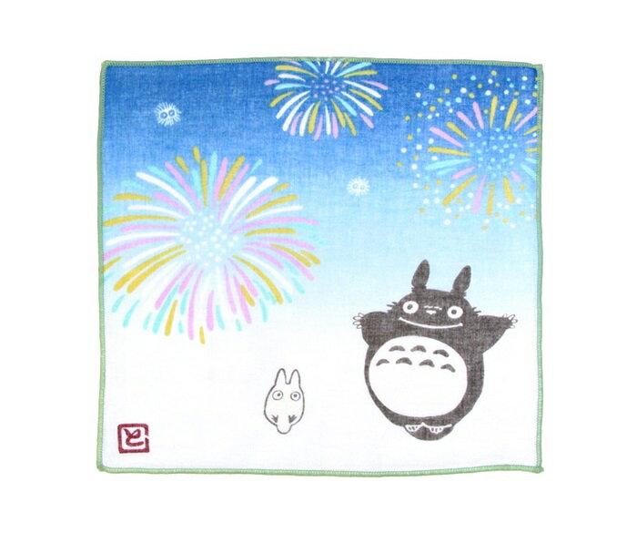 【真愛日本】7042300004 日本製四季紗布小方巾-夜空花火 龍貓 TOTORO 豆豆龍 毛巾 方巾 手帕