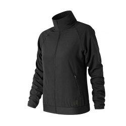 New Balance 女裝 外套 慢跑 風衣 立領 防風 吸濕排汗 透氣 網眼布料 黑【運動世界】AWJ81137BK