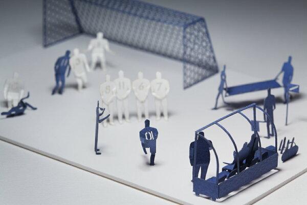 【寺田模型】建築紙模型世界盃足球手作DIY交換禮物