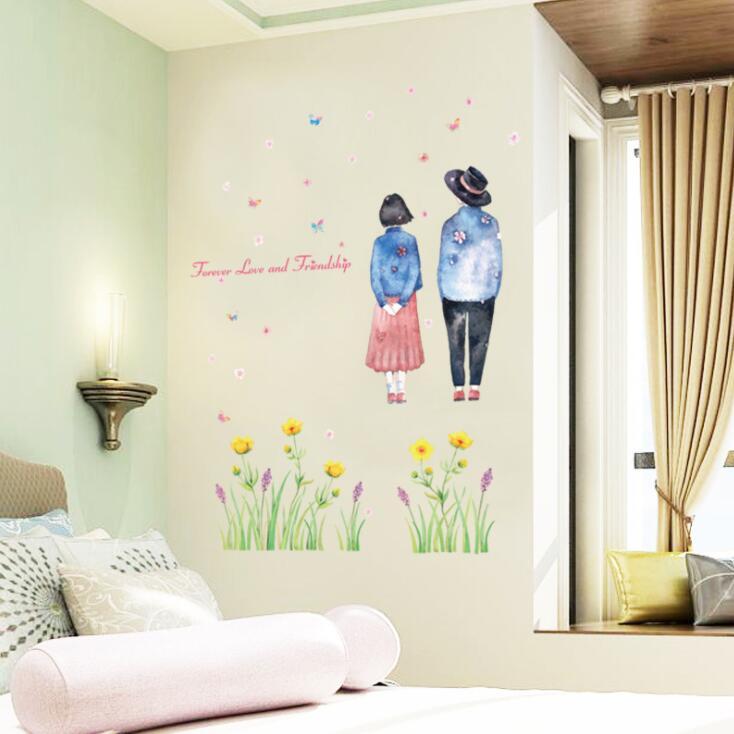 WallFree窩自在~DIY無痕 牆貼  壁貼 居家裝飾 情侶壁貼 戀愛 _SK7097