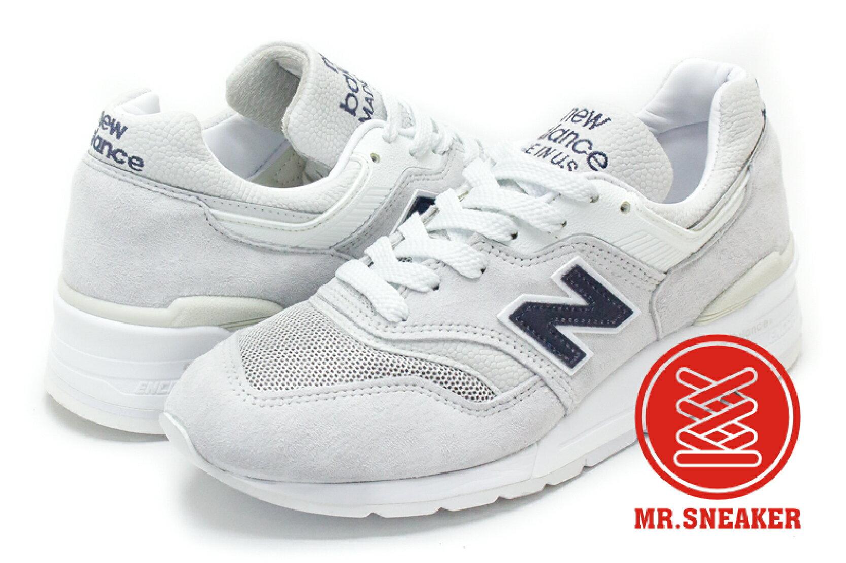 ☆Mr.Sneaker☆NEW BALANCE 997 美製 USA 皮革 白色 男女段 M997JOL