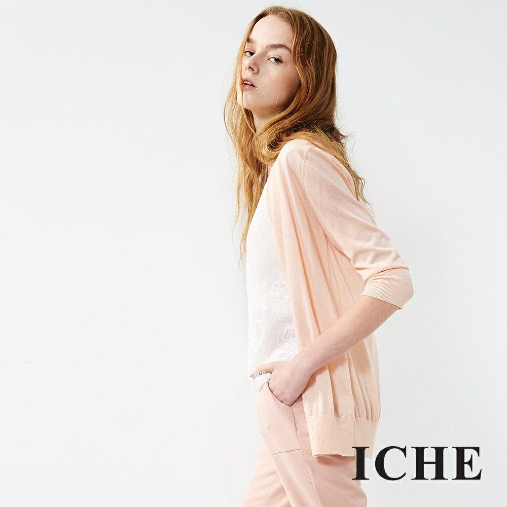 ICHE 衣哲 簡約長版針織外套
