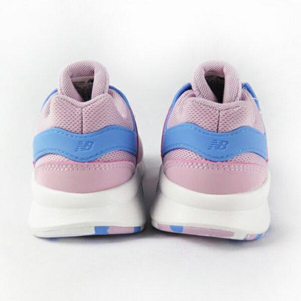 Shoestw【PH247KWW】NEW BALANCE NB247 中童鞋 運動鞋 鬆緊帶 免綁帶 襪套 Wide 網布 粉紅水藍 2