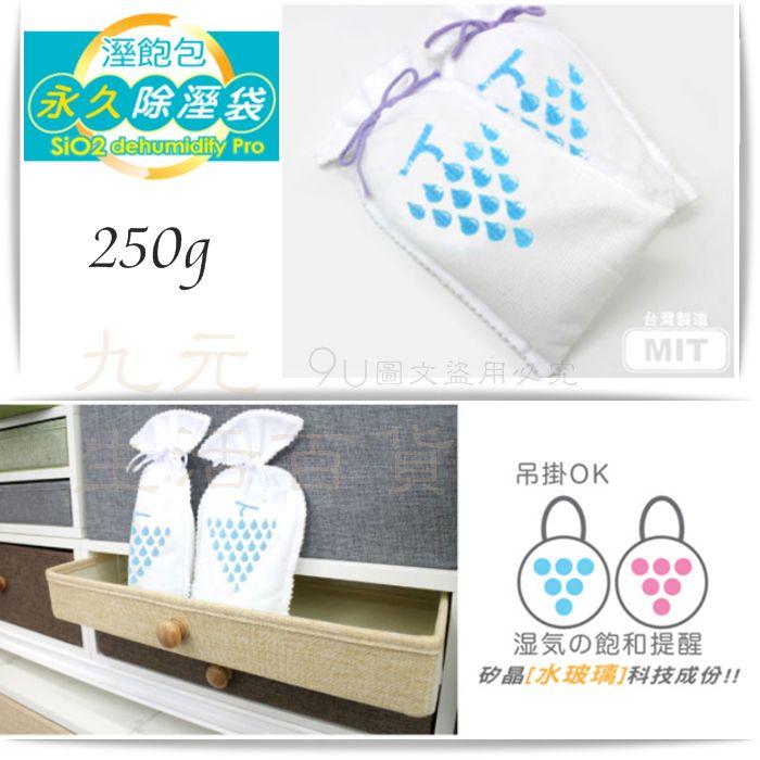 【九元生活百貨】9uLife 除濕袋/250g WG9659 水玻璃 重複使用 除濕 除溼 防潮 MIT