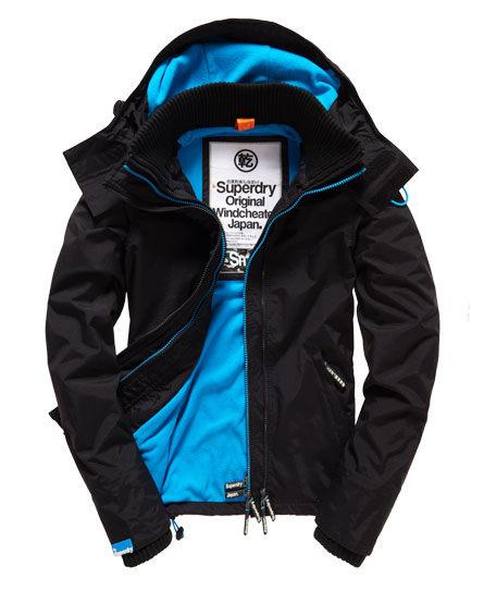 【蟹老闆】SUPERDRY 經典基本款 藍色內裡 防風外套 機能性防潑水風衣外套 女款