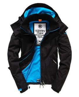 極度乾燥 Superdry 經典基本款 藍色內裡 防風外套 防潑水 女款