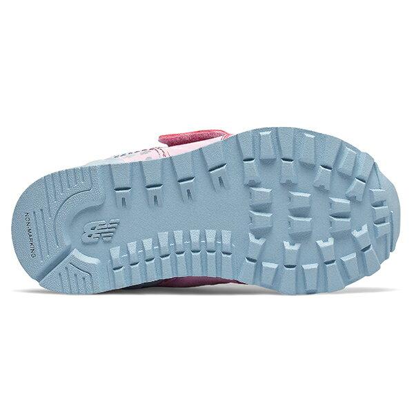 Shoestw【IV574KCR】NEW BALANCE NB574 運動鞋 黏帶 小童鞋 Wide 粉水藍 小花 3