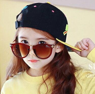 Kocotree◆ 新款時尚豹紋花色磨砂鏡框紫外線護目兒童成人親子款太陽眼鏡-紅咖啡(兒童/成人款)