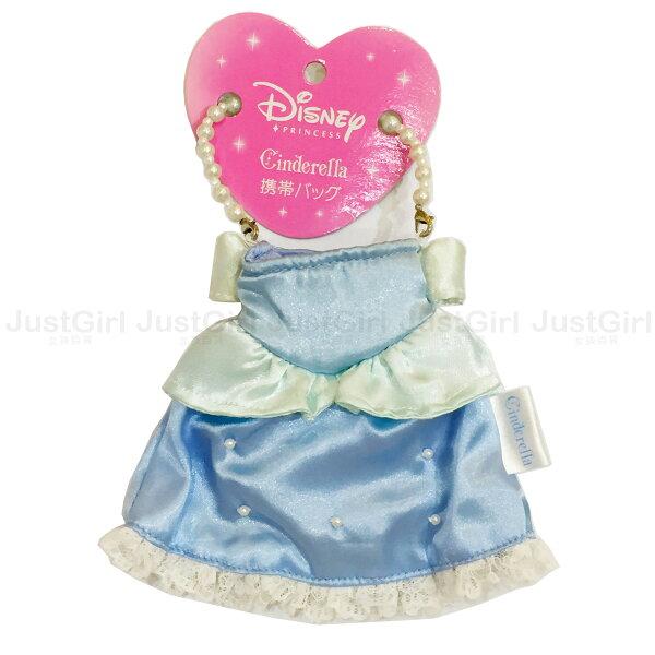 迪士尼公主小提袋收納袋隨身包灰姑娘衣服禮服玩具正版日本進口*JustGirl*