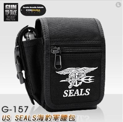 【【蘋果戶外】】GUN TOP GRADE G-157 US SEALS 公司貨 海豹軍腰包 勤務包小包休閒包 G157