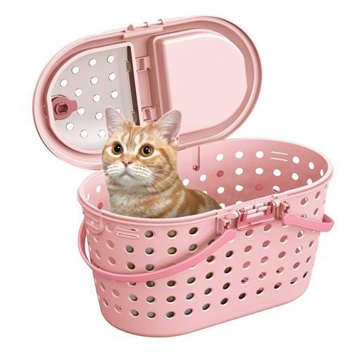 MARUKAN  寵物外出多 提籠 粉色 CT~327 ,附肩背袋可斜背,貓咪或小型犬
