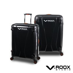 展示出清 V-ROOX AXIS 21吋 原創設計可擴充行李箱 硬殼防爆雙層拉鏈旅行箱-霧黑色